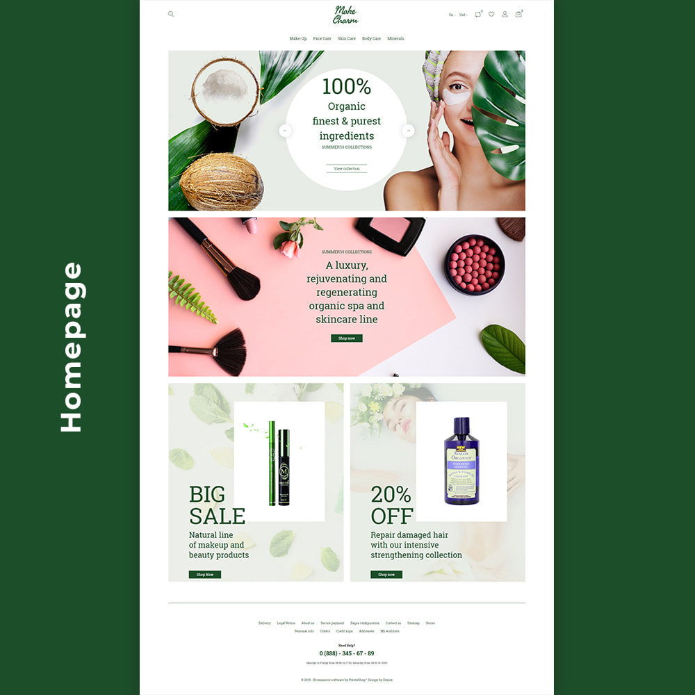 theme - Здоровье и красота - MakeCharm - Organic Cosmetics Store - 3
