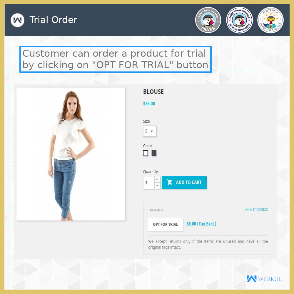 module - Déclinaisons & Personnalisation de produits - Product Trial | Try Before Purchase - 3