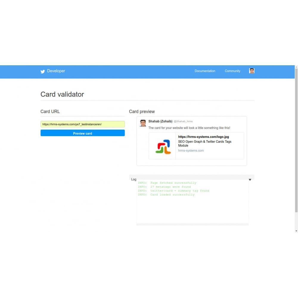 module - SEO (Referenciamento natural) - Gerador de Tags SEO Graph & Twitter Card Open - 4