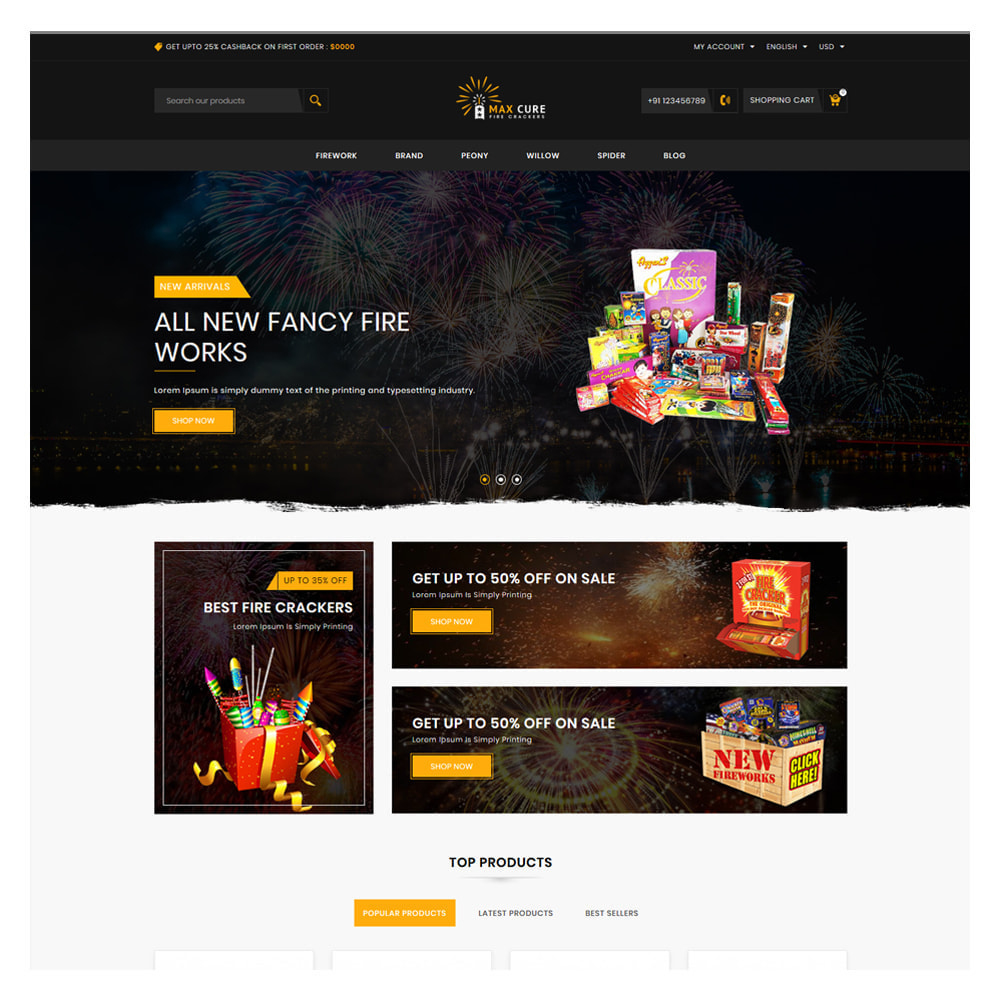 theme - Gifts, Flowers & Celebrations - Maxcure Fireworks Store - 2