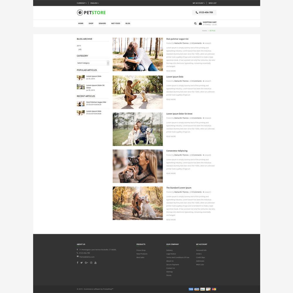 theme - Animali - PetStore - Responsive Store - 5