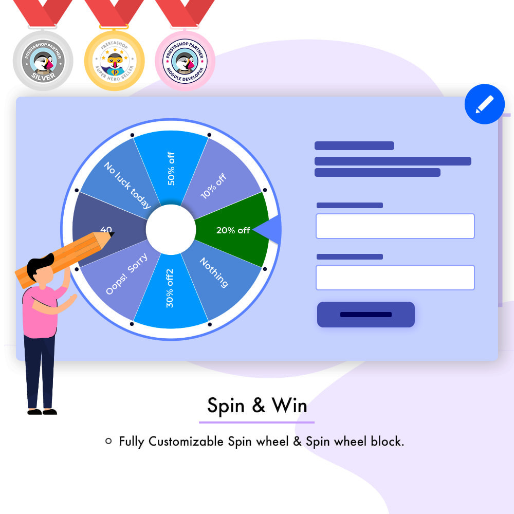 module - Promotions & Gifts - Spin and Win - 1