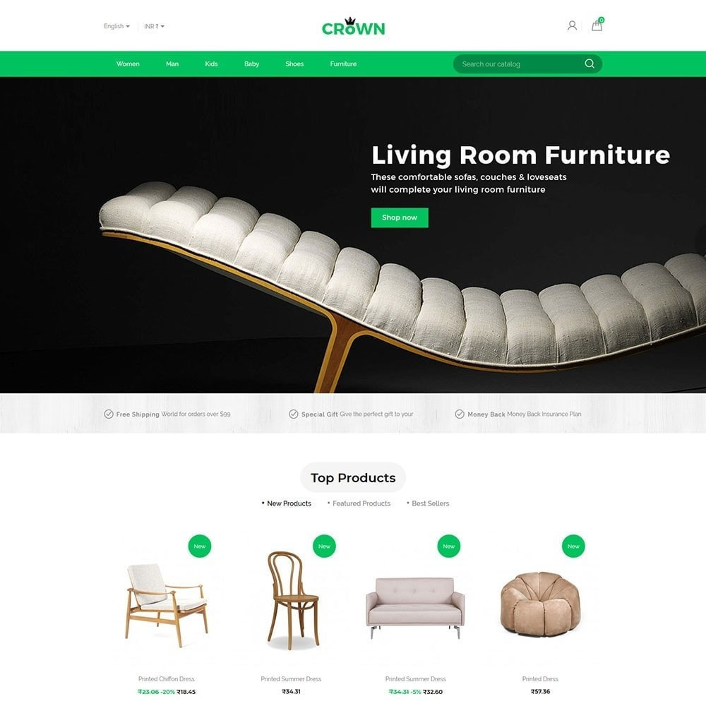 theme - Home & Garden - Interior Furniture - Decor Wood  Home Design Store - 2