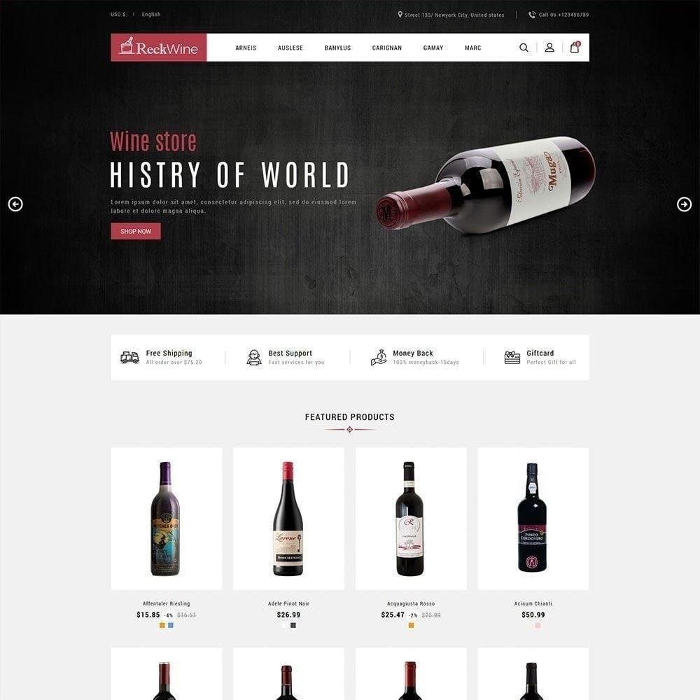 theme - Drink & Wine - Vino - Negozio di bevande alcoliche - 3