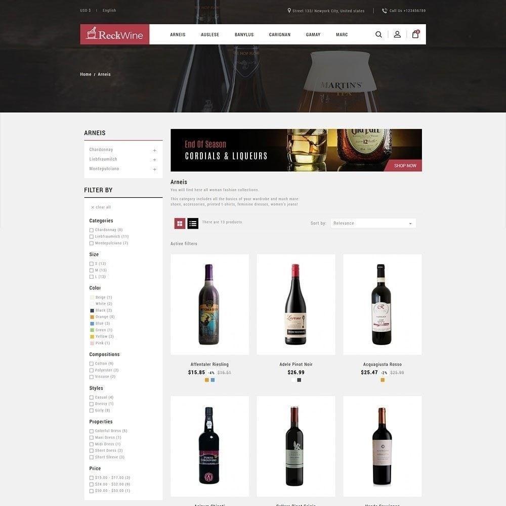 theme - Напитки и с сигареты - Wine - Магазин алкогольных напитков - 4