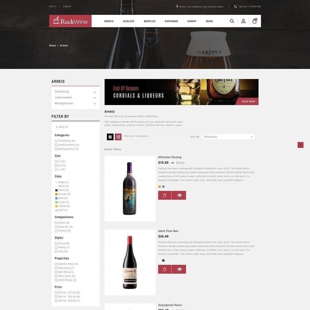 theme - Напитки и с сигареты - Wine - Магазин алкогольных напитков - 5