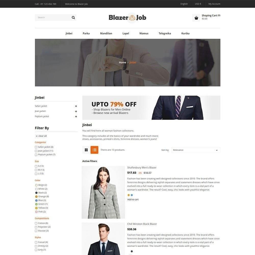 theme - Moda & Calçados - Ternos Blazers - Loja de Moda - 5