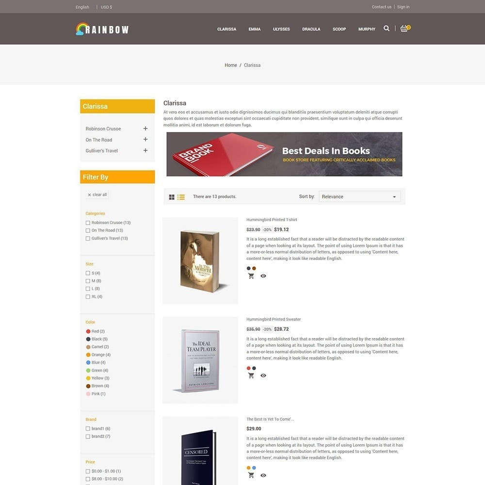 theme - Art & Culture - Rainbow Book - Ebook Store - 5