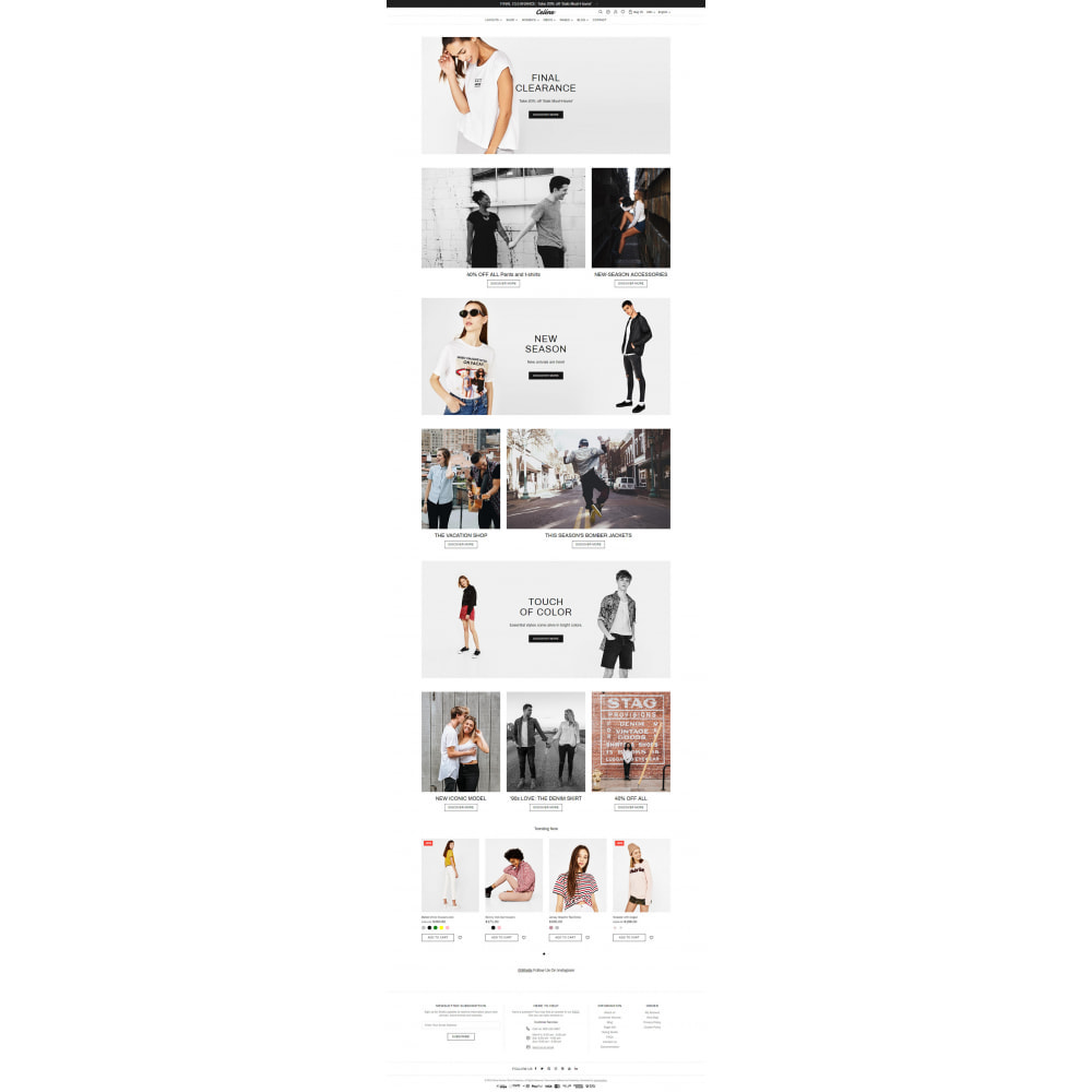 theme - Мода и обувь - Celine - Minimal Fashion Theme - 7