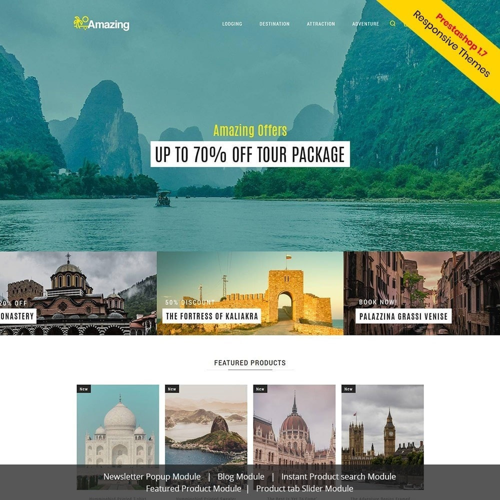 theme - Sport, Loisirs & Voyage - Amazing Travel - Magasin de billets de visites - 2