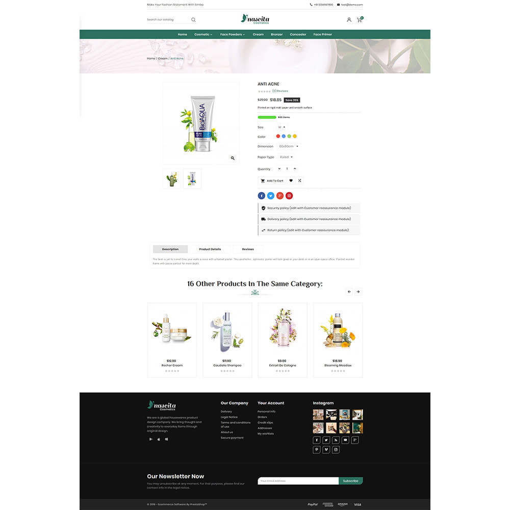 theme - Santé & Beauté - Cosmetics Nascita- Cosmeti Store Premium Theme - 4