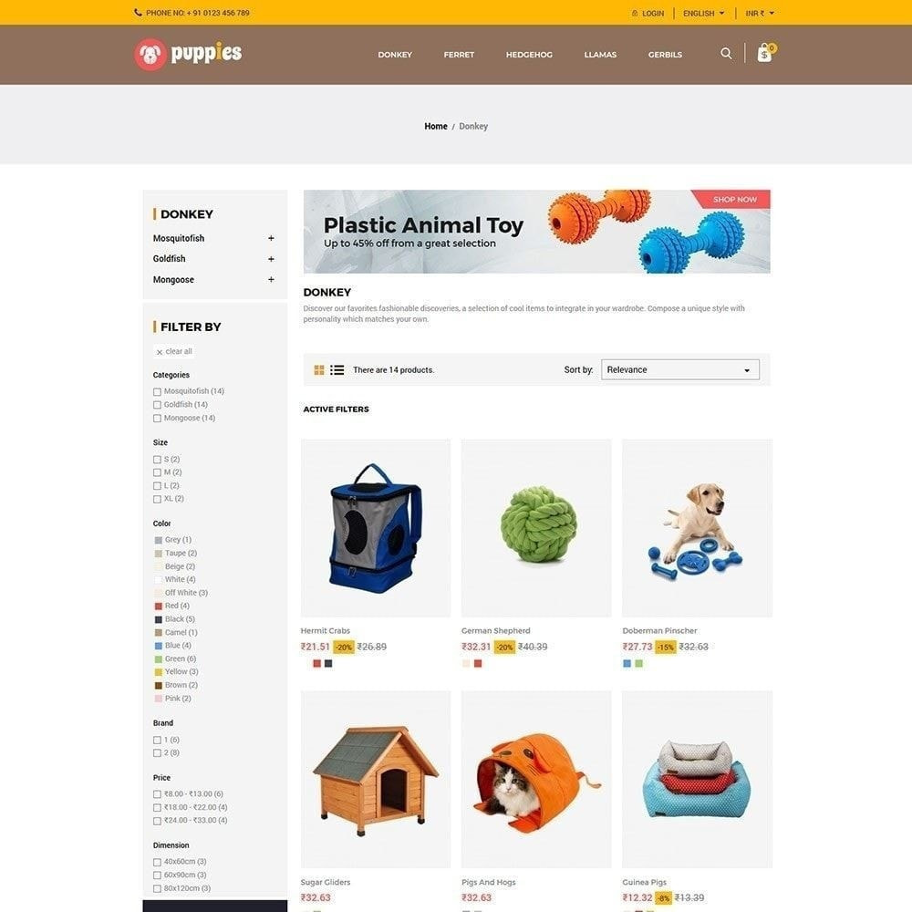 theme - Animaux - Puppy Pet - Magasin pour animaux chats - 4
