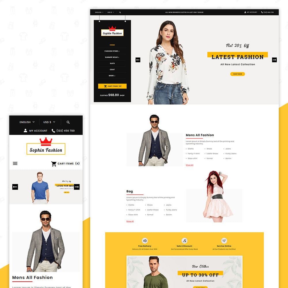 theme - Fashion & Shoes - Sophin Fashion Premium Store - 1