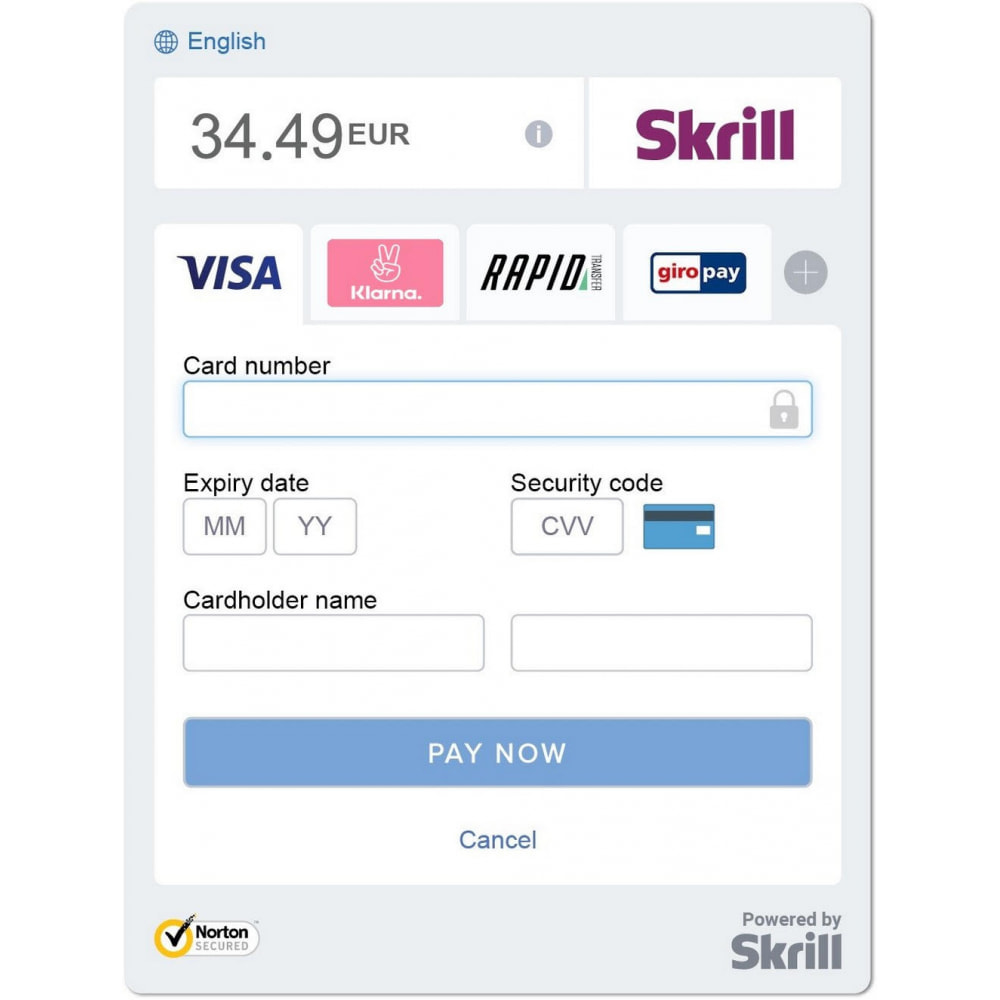module - Payment by Card or Wallet - Skrill Official - 3