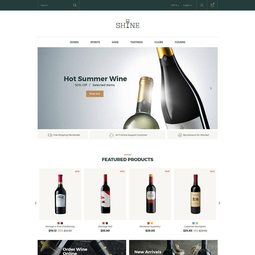 theme - Drink & Wine - Shine Wine - Negozio di alcolici - 2