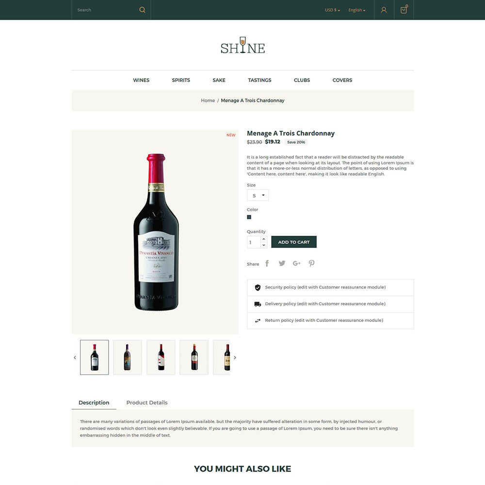 theme - Drink & Wine - Shine Wine - Negozio di alcolici - 6