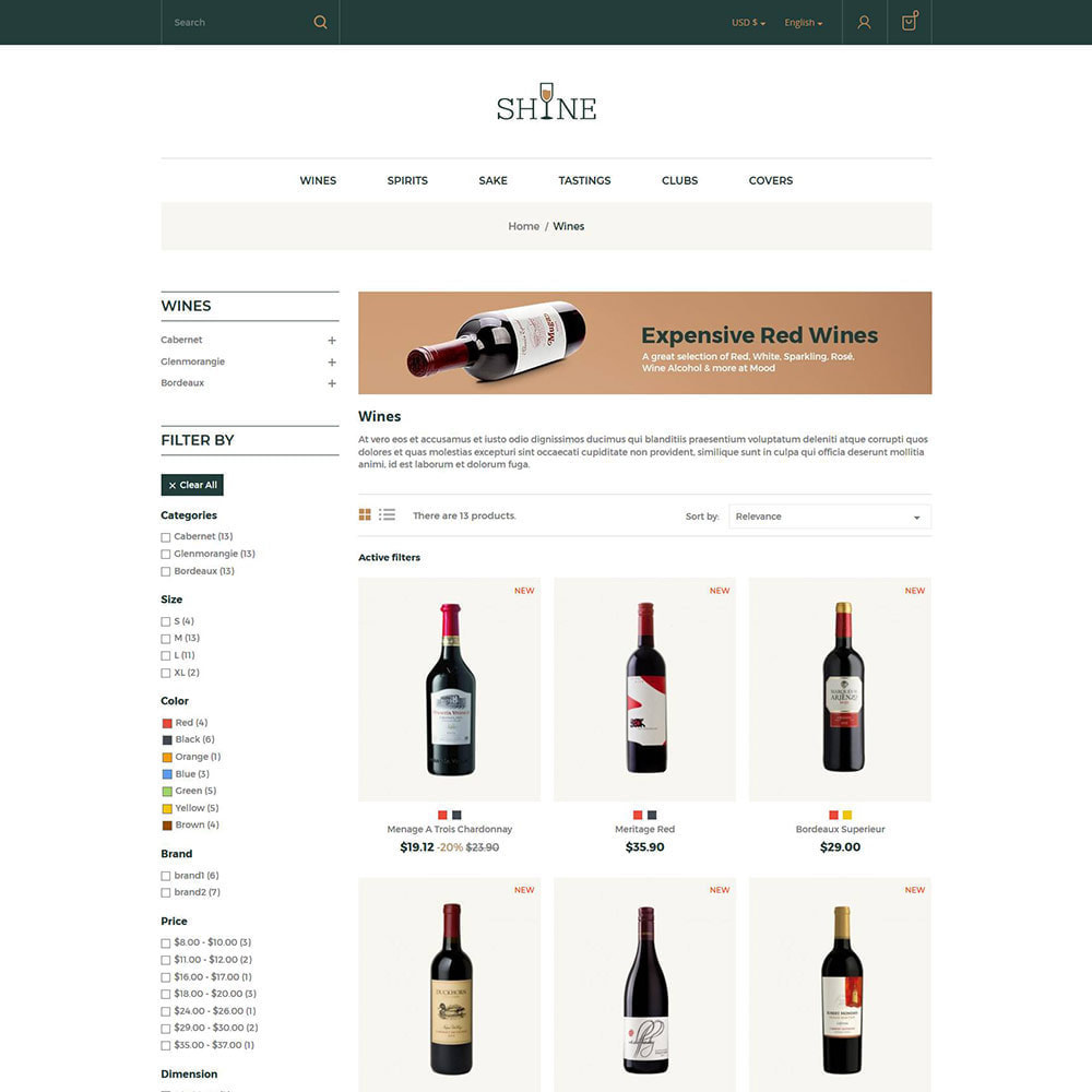 theme - Bebidas & Tabaco - Shine Wine - Loja de Álcool - 3