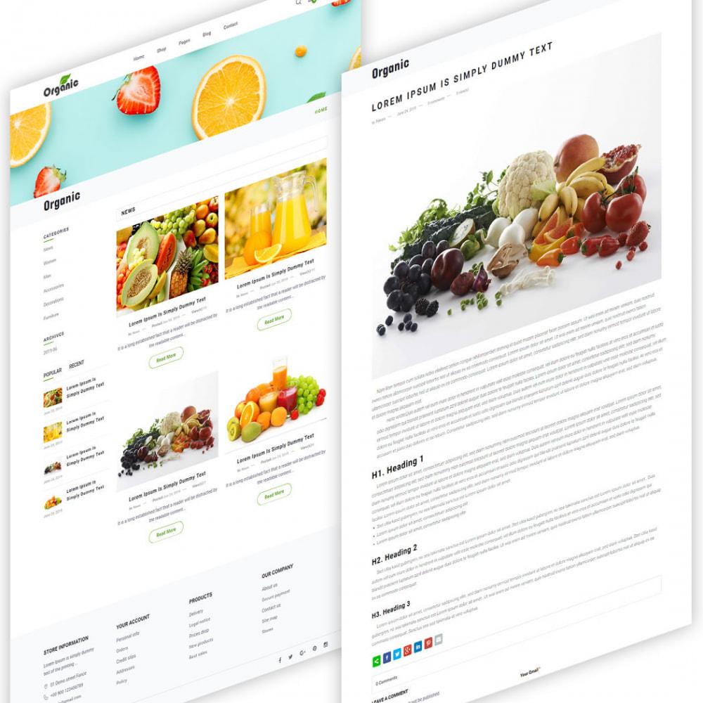 theme - Продовольствие и рестораны - Organic - 5