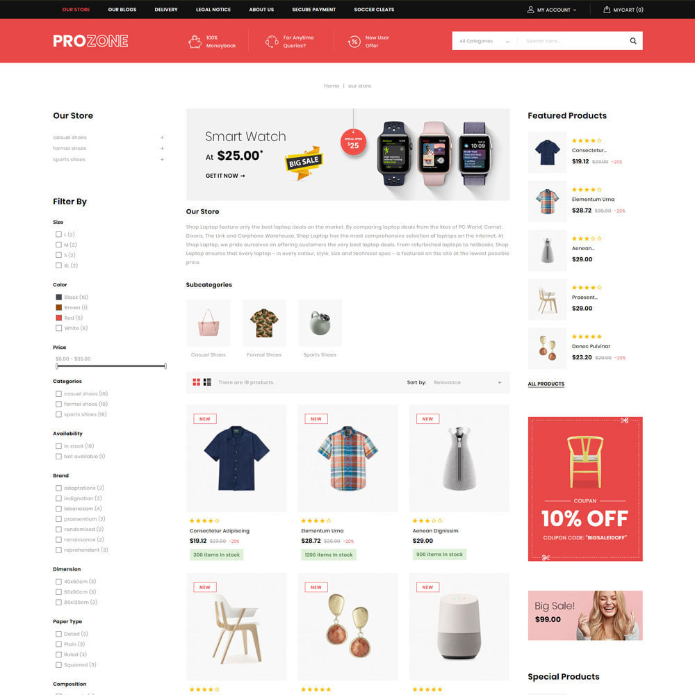 theme - Mode & Schuhe - Prozone - The Fashion Store - 5