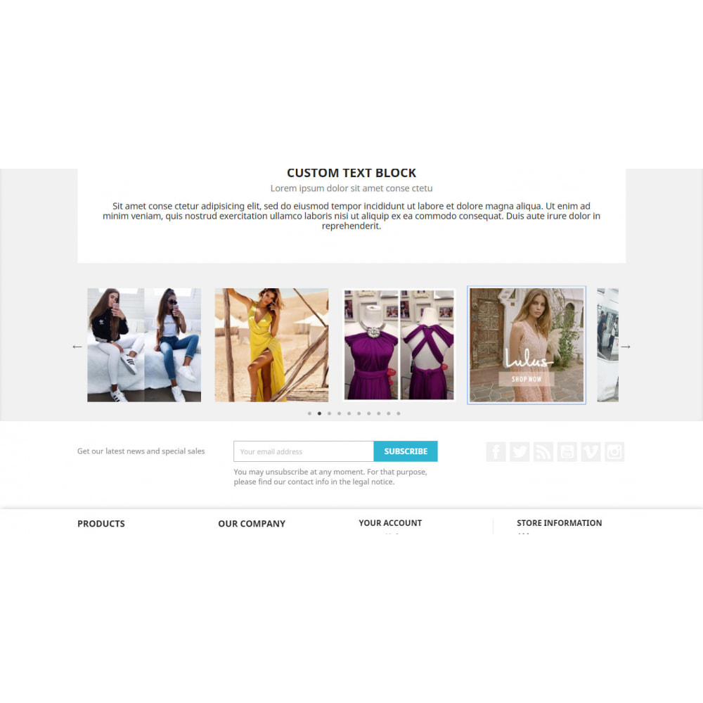 module - Slider & Gallerie - INS Feed Slider - Incredibly social image carousel - 4