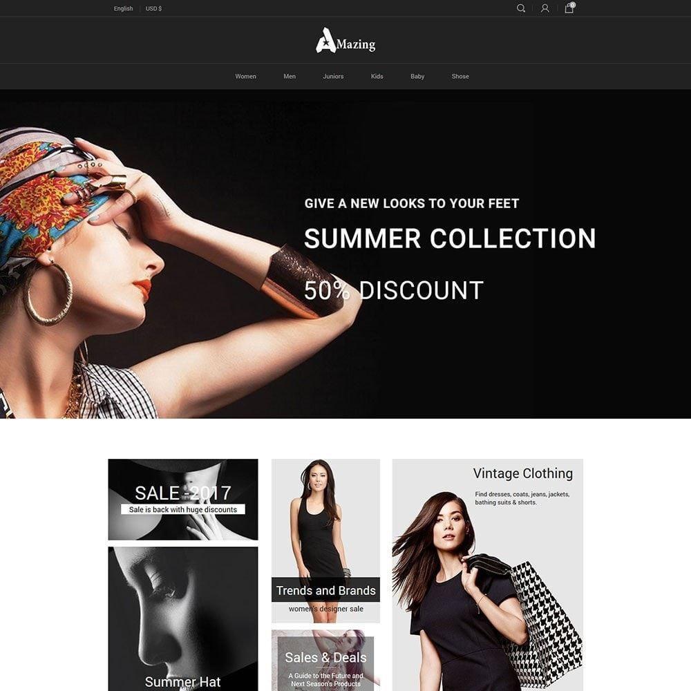 theme - Mode & Schuhe - Amazing Black - Fashion Dark Store - 1