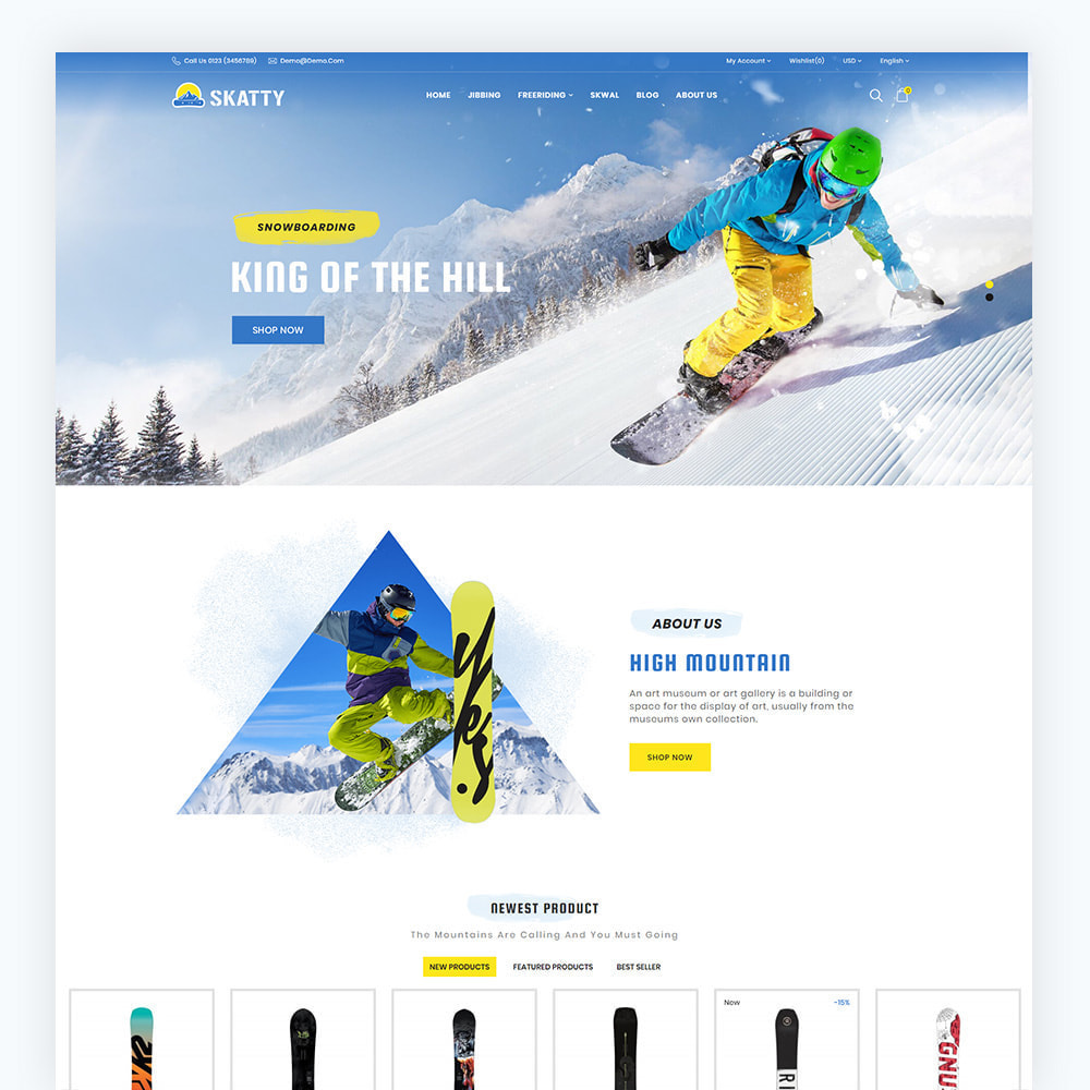 theme - Sport, Activiteiten & Reizen - Skatty Skateboard Sport Store - 2