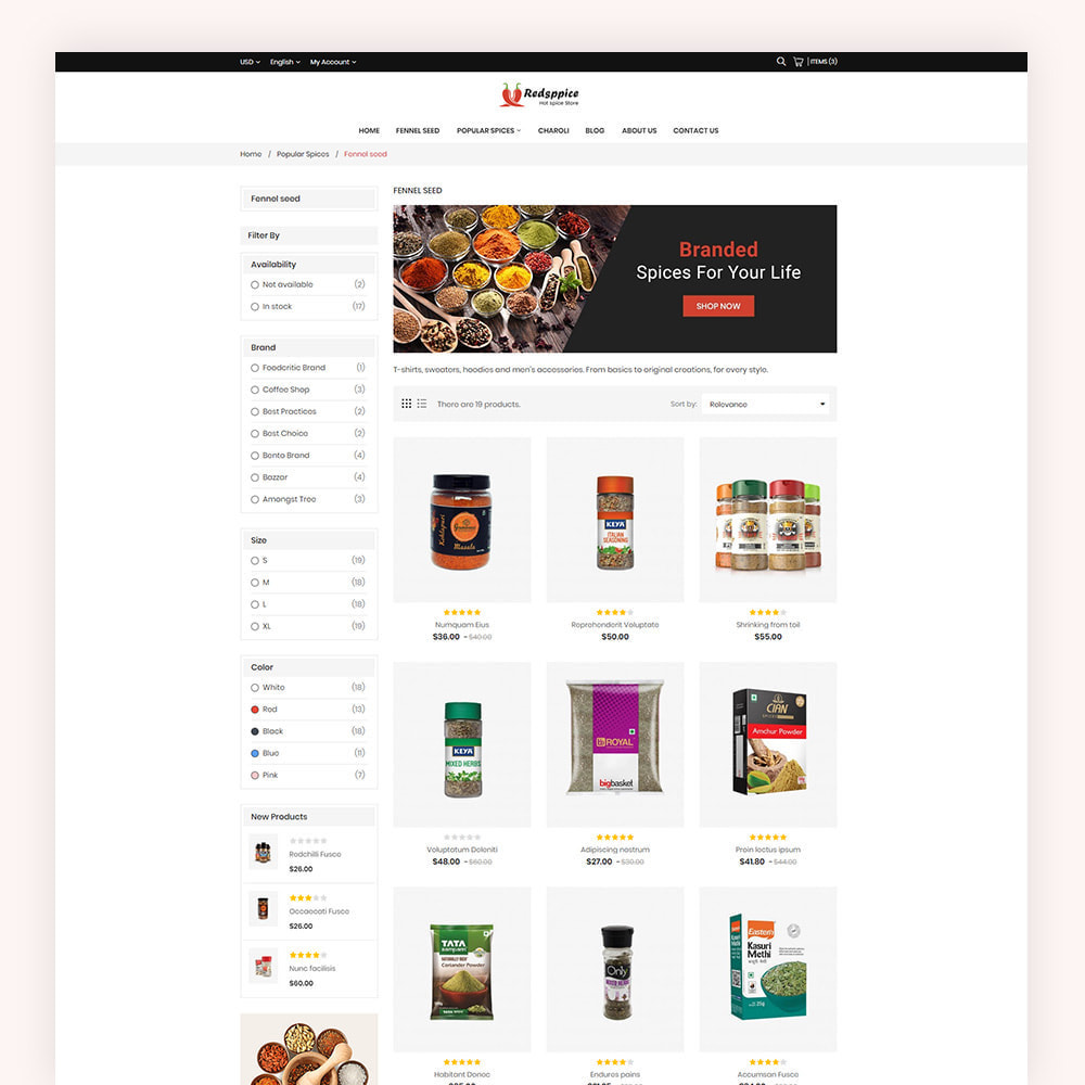 theme - Gastronomía y Restauración - Redsppice Spice Store - 5