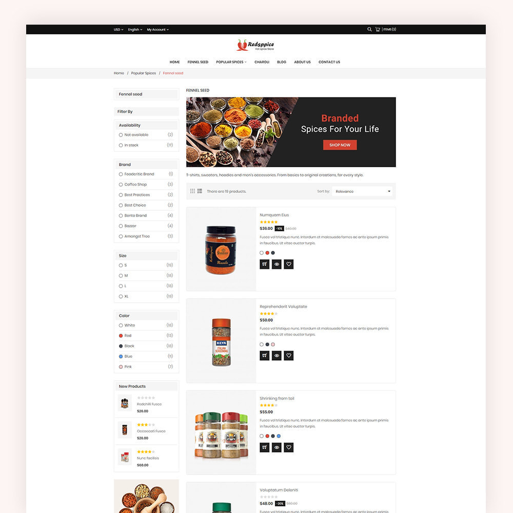 theme - Gastronomía y Restauración - Redsppice Spice Store - 6