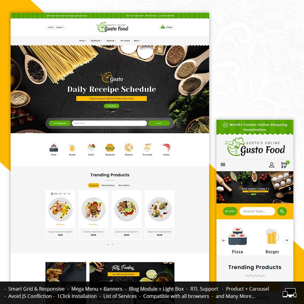 theme - Lebensmittel & Restaurants - Gusto Food - Restaurant Dishes - 1
