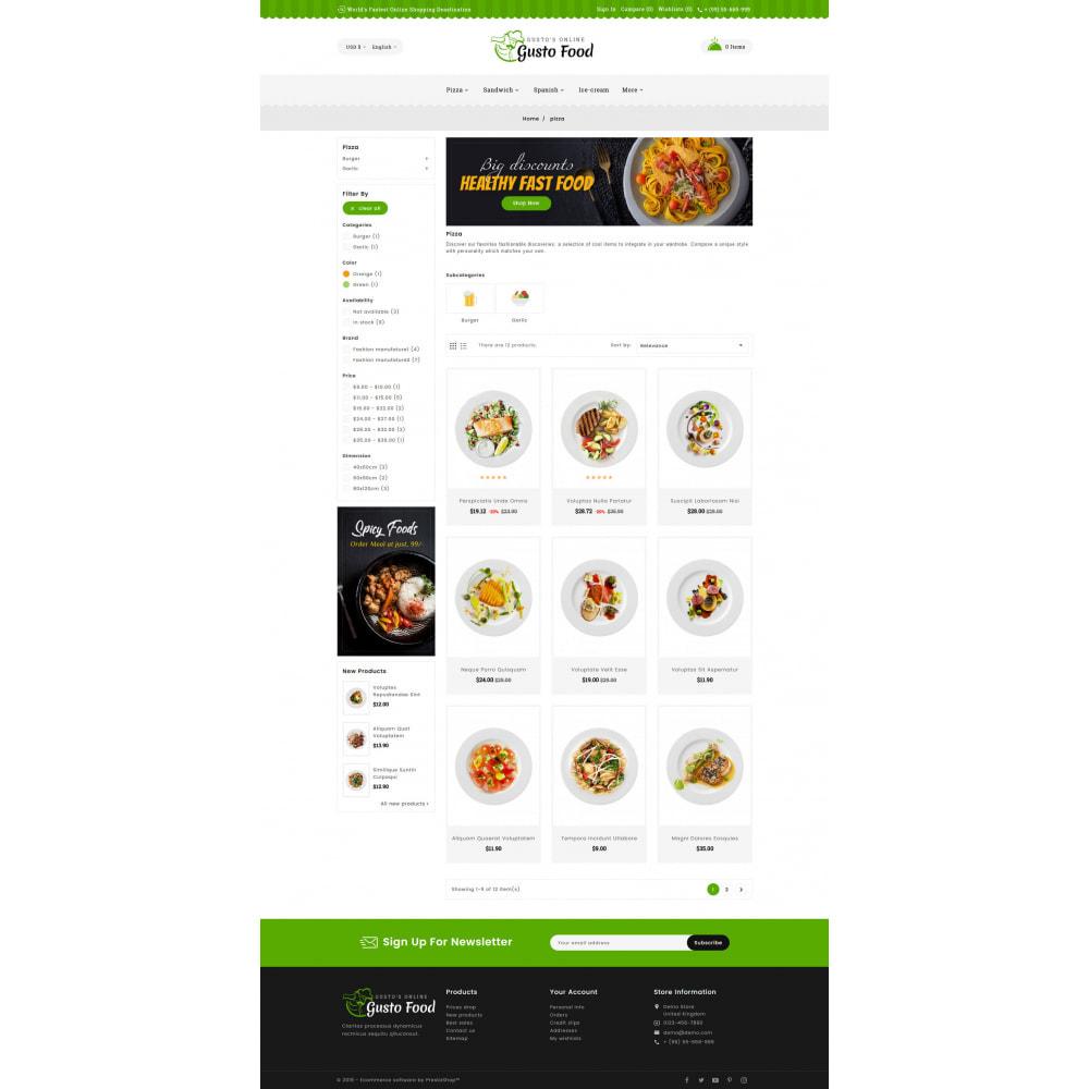 theme - Lebensmittel & Restaurants - Gusto Food - Restaurant Dishes - 3