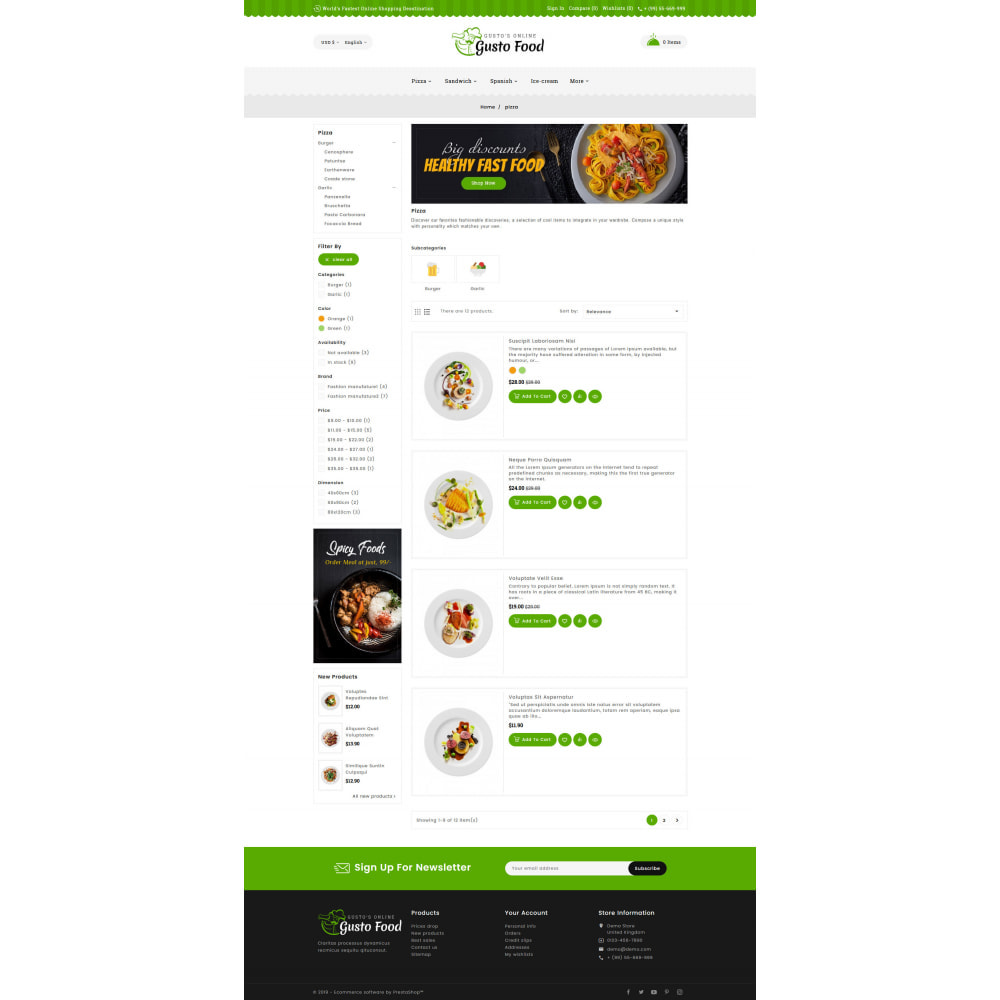 theme - Lebensmittel & Restaurants - Gusto Food - Restaurant Dishes - 4