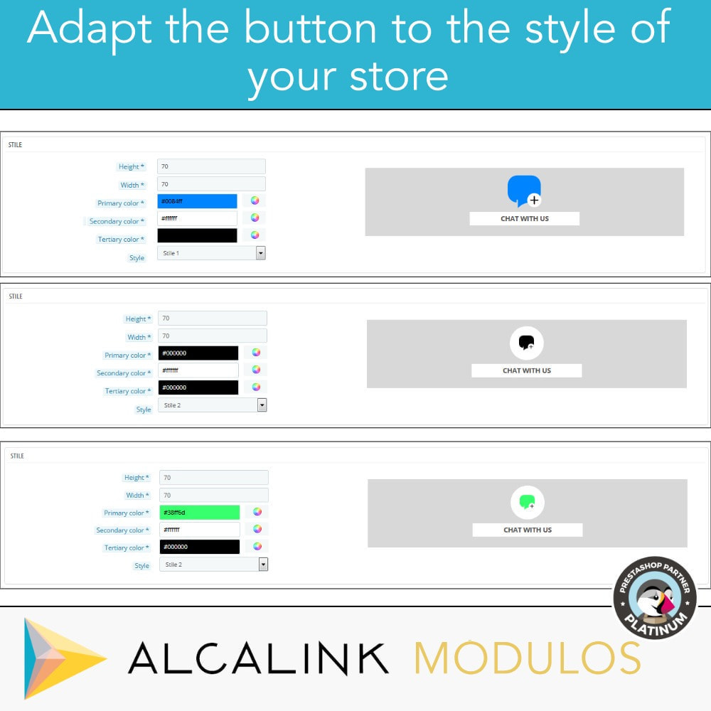 module - Support & Online Chat - Contact Chat Button - 3