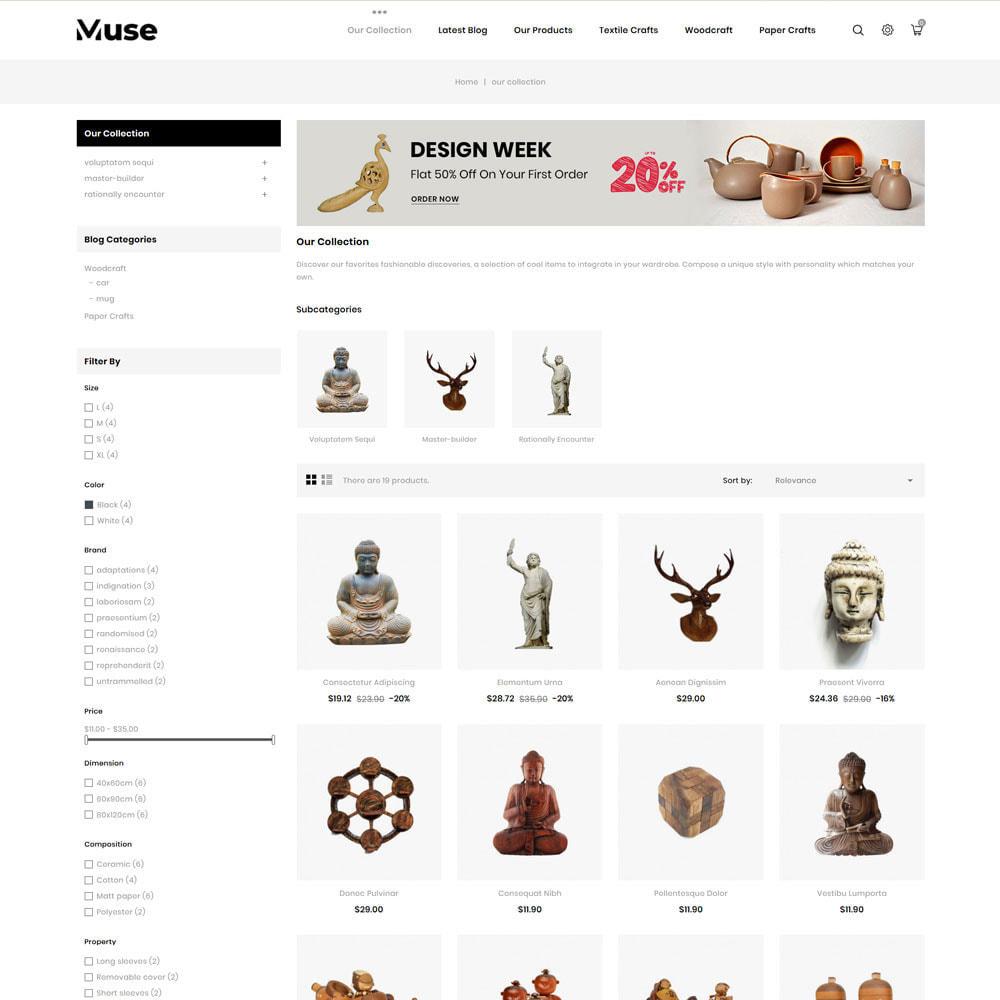 theme - Art & Culture - Muse - boutique d'art - 6