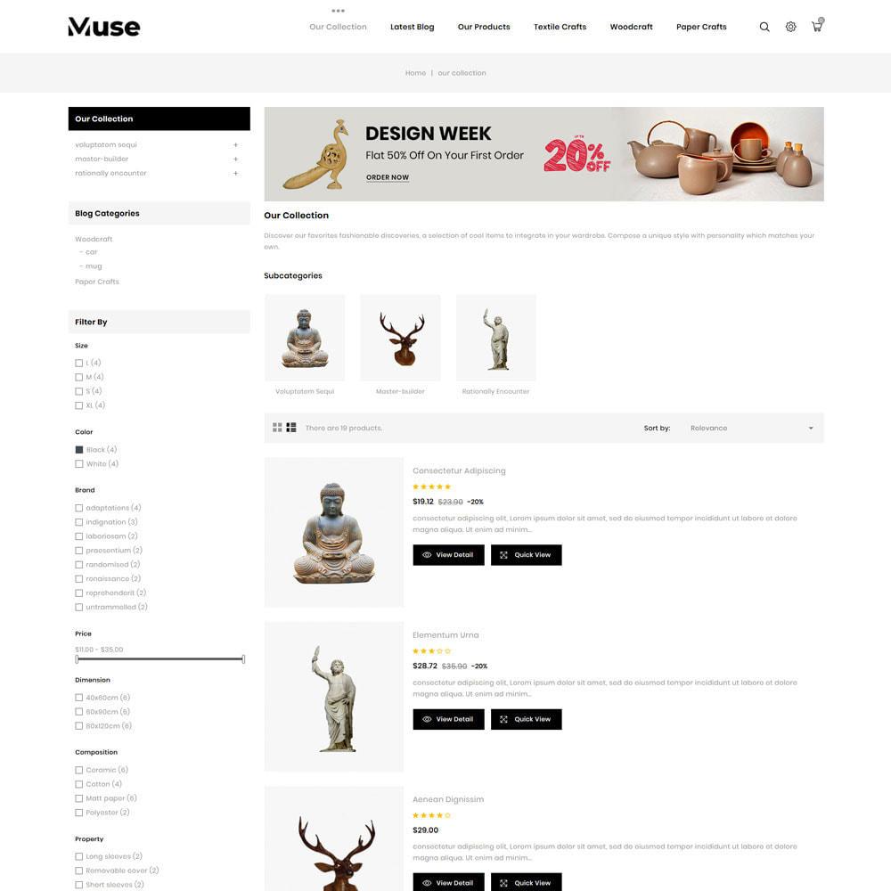 theme - Art & Culture - Muse - boutique d'art - 7