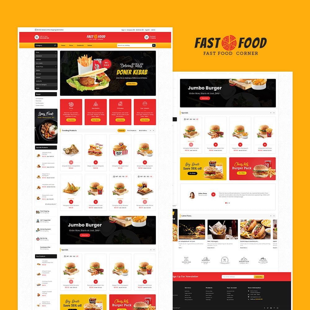 theme - Food & Restaurant - Fast Food & Dinks Corner - 2