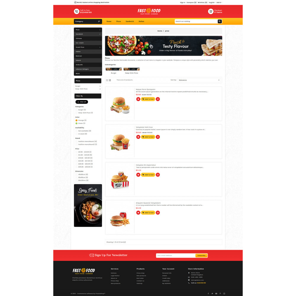 theme - Food & Restaurant - Fast Food & Dinks Corner - 4