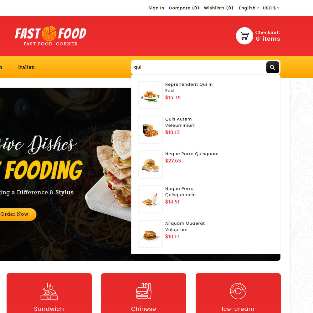 theme - Food & Restaurant - Fast Food & Dinks Corner - 10