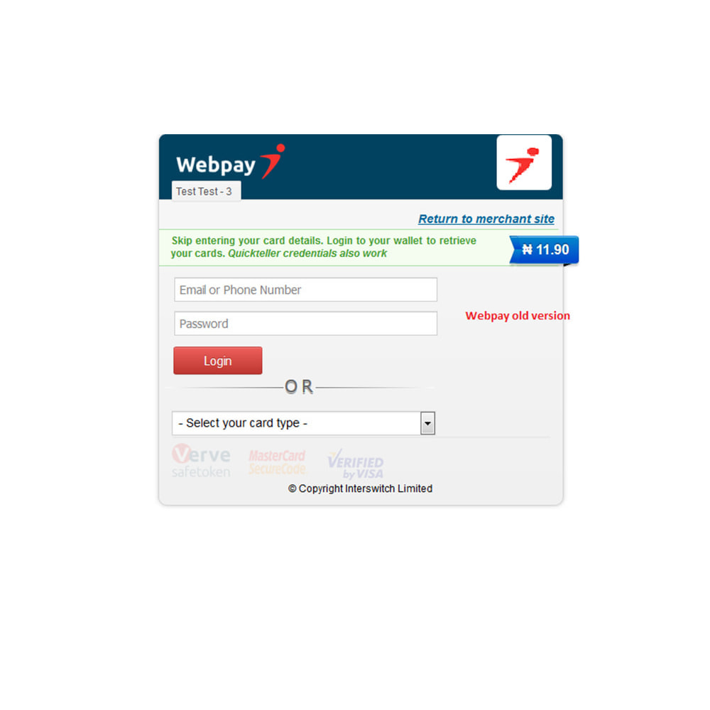 module - Payment by Card or Wallet - Interswitch Webpay Payment - 4