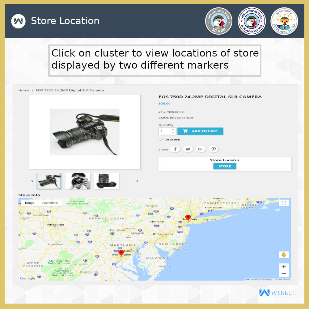 module - Internationaal & Lokalisatie - Store Locator - Store Pickup, Google Map - 8
