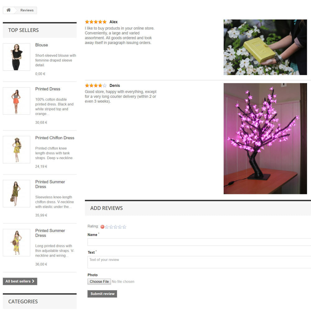 module - Opinie klientów - Reviews about your store / product - 8
