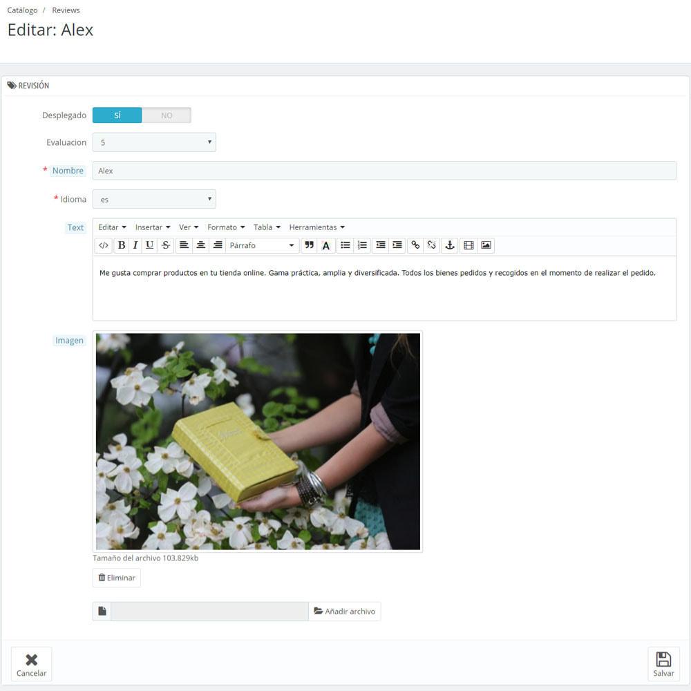 module - Comentarios de clientes - Comentarios sobre su tienda / producto - 10