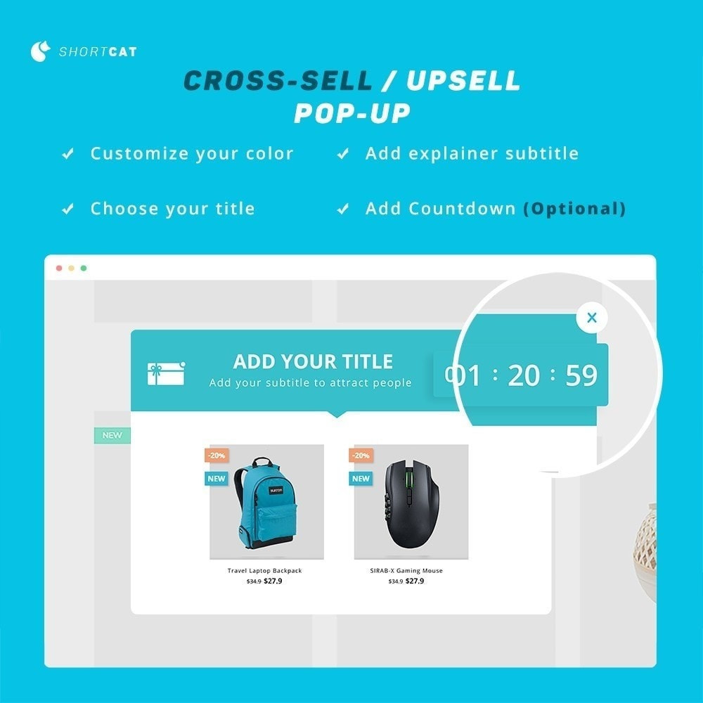 module - Ventas cruzadas y Packs de productos - Smart Cross Sale Advanced: Countdown, Recommend - 5