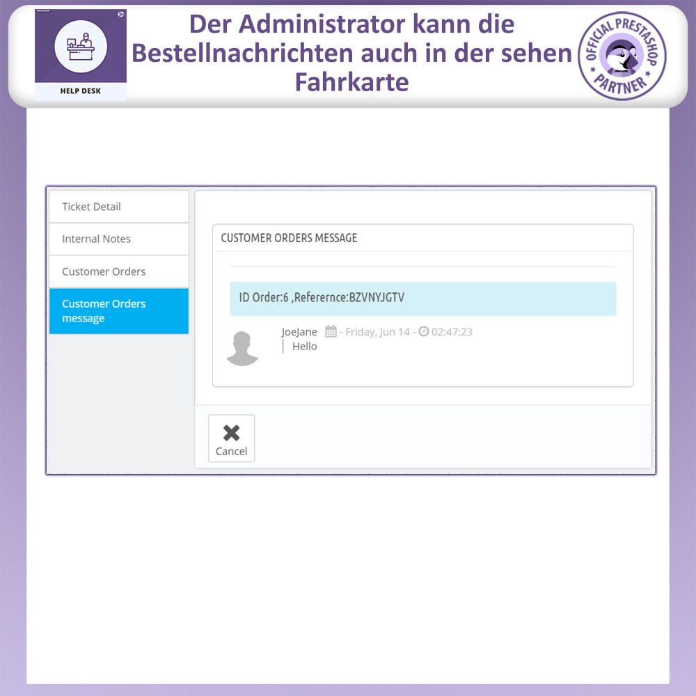 module - Kundenservice - Helpdesk – Kundensupport Verwaltungssystem-Module - 13