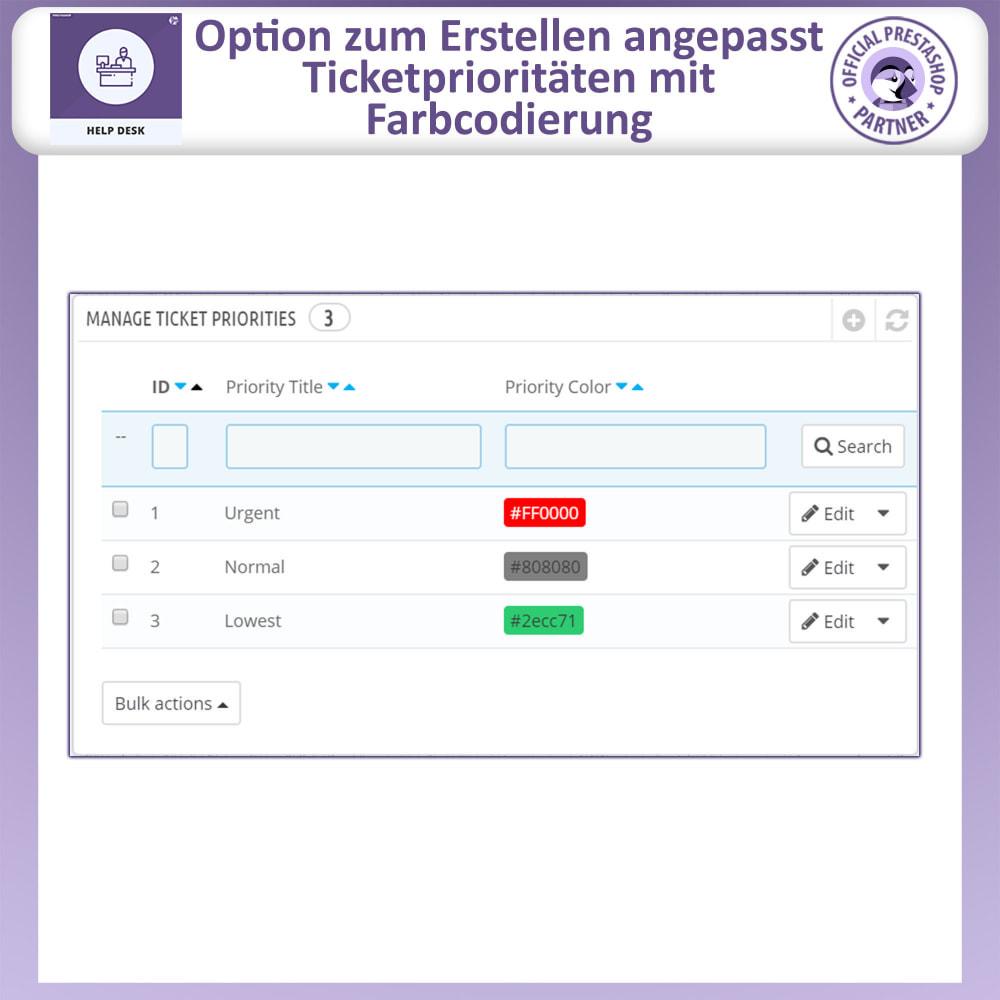 module - Kundenservice - Helpdesk – Kundensupport Verwaltungssystem-Module - 15