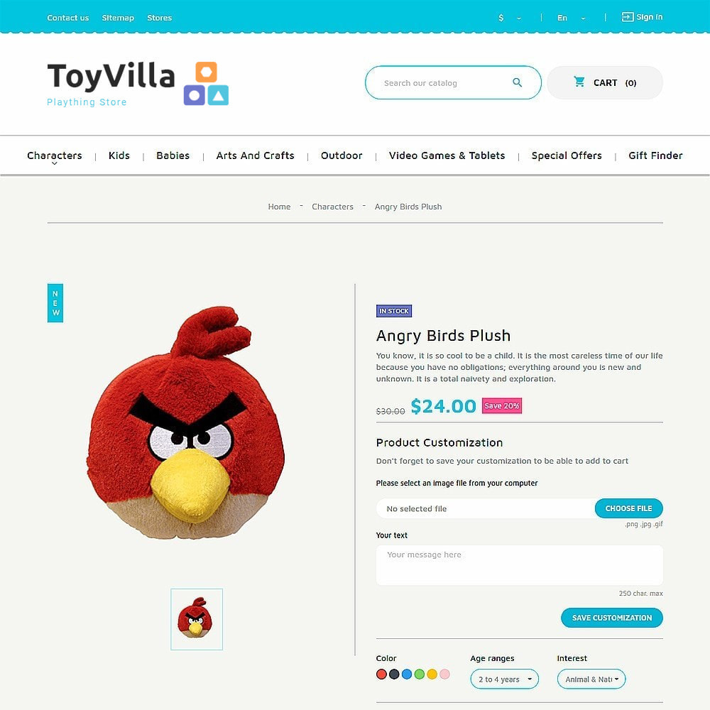 theme - Дети и Игрушки - ToyVilla - Plaything Store - 8
