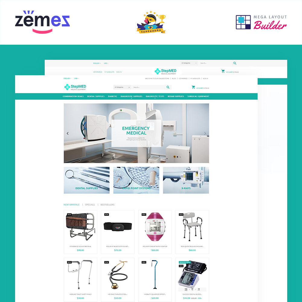 theme - Здоровье и красота - StepMED - Medical Equipment Store - 1
