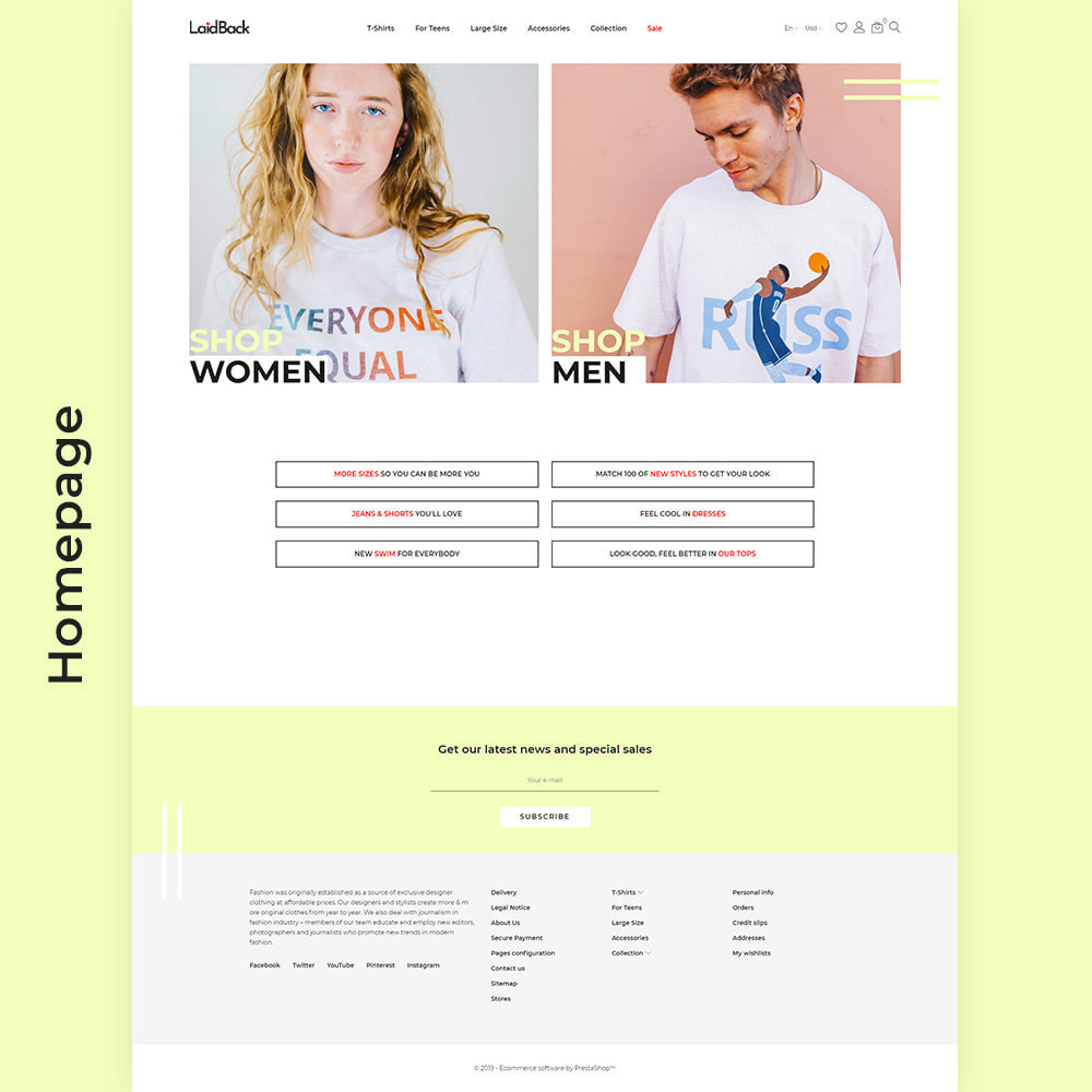 theme - Мода и обувь - Laidback - Casual Online Store - 2