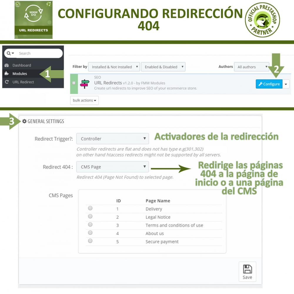 module - URL y Redirecciones - Redireccione URL - Redireccione 301, 302, 303 y URL 404 - 2