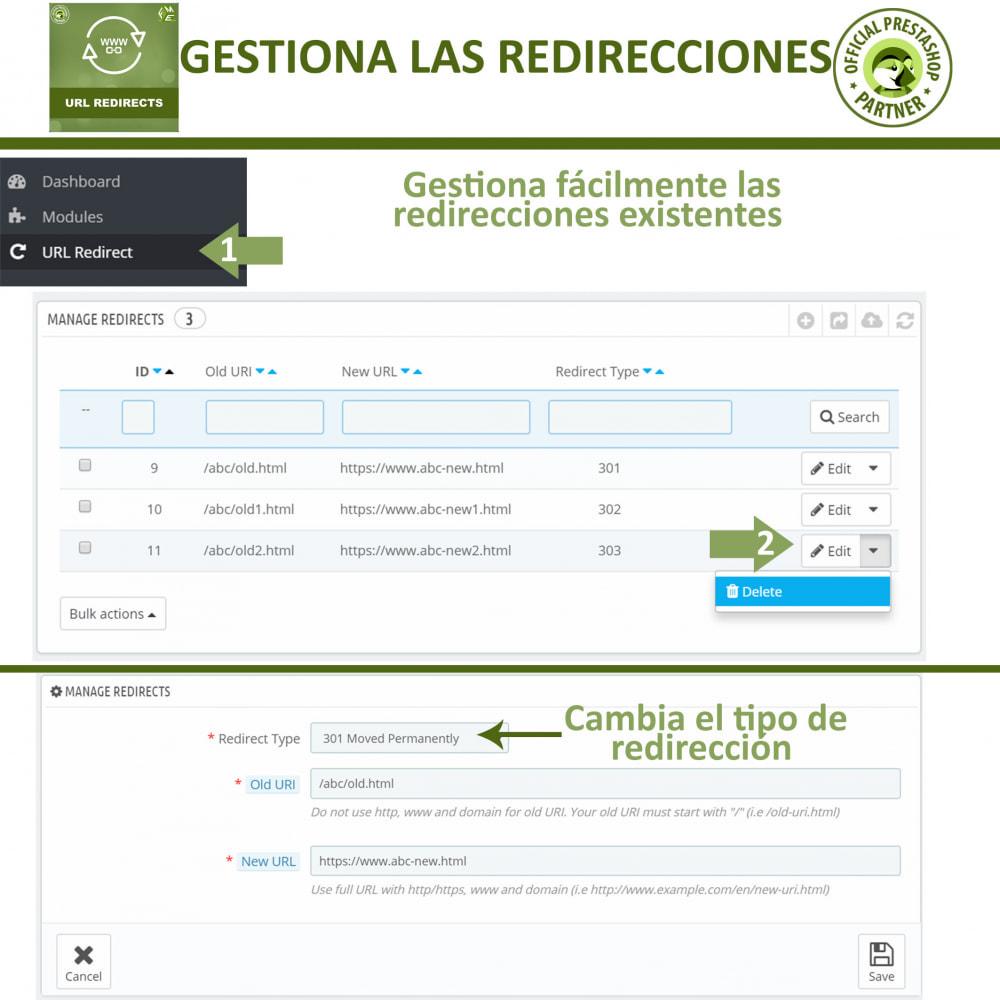 module - URL y Redirecciones - Redireccione URL - Redireccione 301, 302, 303 y URL 404 - 3