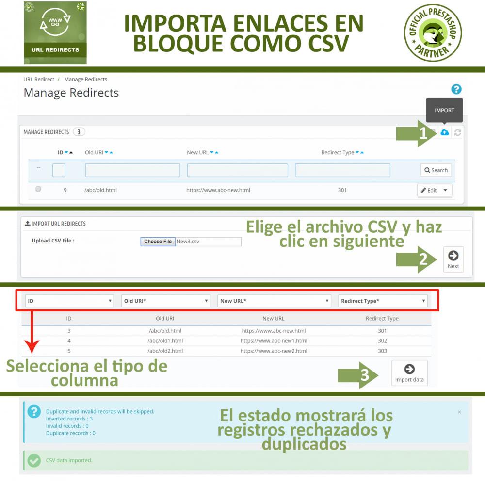 module - URL y Redirecciones - Redireccione URL - Redireccione 301, 302, 303 y URL 404 - 4
